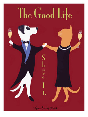 The Good Life, dog and cat celebrate