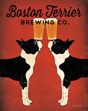 Dog poster, Boston Terrier Brewing Company by Ryan Fowler