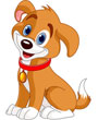 Brown and White Happy Clip Art Dog