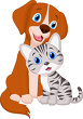 Clip Art Puppy and Cat