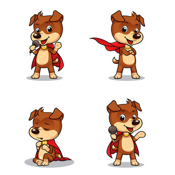 Super Hero Clip Art Dog Four Super Poses