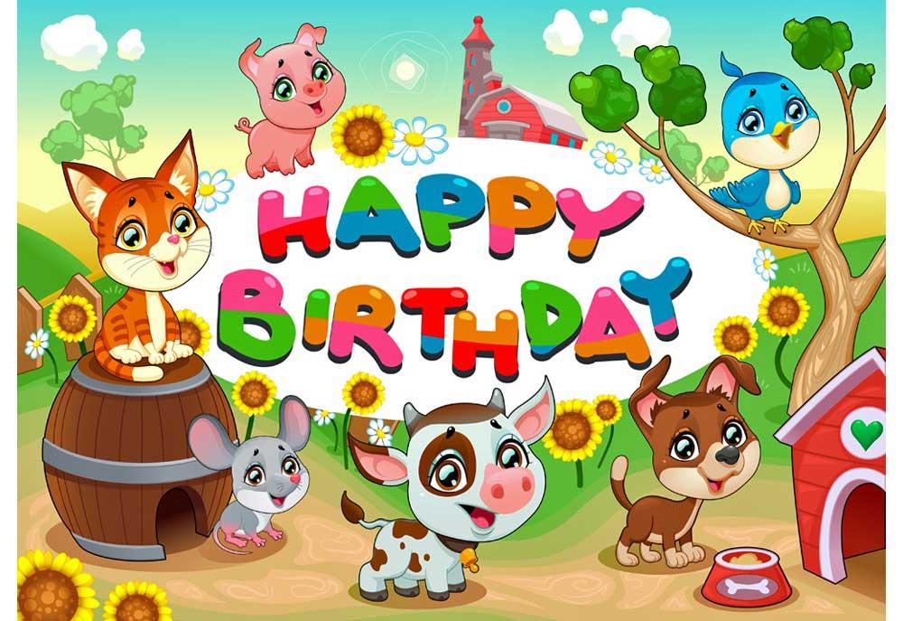 Dog And Other Farm Animals Happy Birthday Dog Clip Art