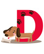 D is for Dog, Dog Clipart