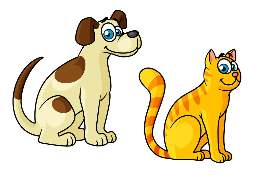 beige brown dog and orange striped cat clipart rh dogsinpictures com cat and dog clipart black and white cat and dog together clipart