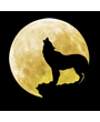 Dog Clip Art, Howling At the Moon in Silhouette