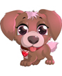 Dog clipart, cute puppy dog face
