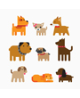 Nine dog breeds dog clipart