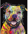 Dog Poster Pit Bull Dogs Will Steal Your Heart, Art by Dean Russo
