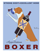 Dog Poster Appellation Boxer by Ken Bailey