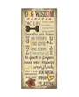 Dog Wisdom Dog Poster, Sayings for a Good Life, Jo Moulton