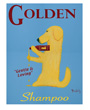 Dog Poster Golden Shampoo Poster by Ken Bailey