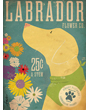 Dog Poster Labrador Flower Company, Yellow Lab Poster by Stephen Fowler