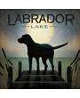 Dog Poster Black Dog Labrador Lake Moonrise, Ryan Fowler