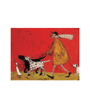 Dog Poster by Artist Sam Toft - Walkies - Walking the Dog
