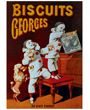 Dog Poster Poodle Vintage Biscuits Georges