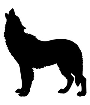 Clip Art Of Howling Wolf Silhouette Dog Pictures