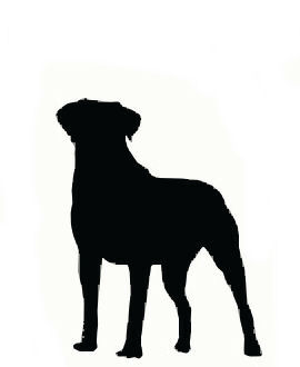 Clip Art, Large Dog in Silhouette