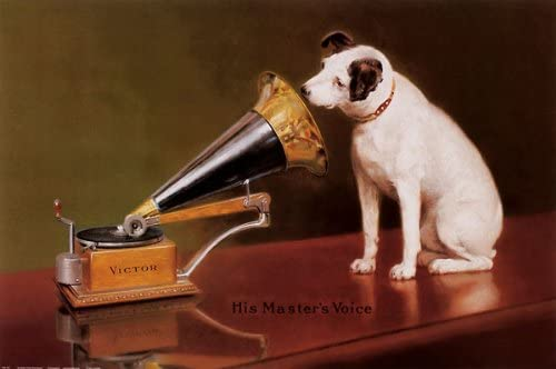 RCA Victor dog, Nipper art print