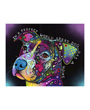 In a perfect world every dog has a home, dog art print by Dean Russo