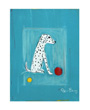 Dalmatian with red yellow ball poster, Ken Bailey