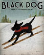 Black Dog Ski art print by Ryan Fowler