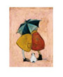 Dog art print by Sam Toft, A Sneaky One