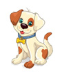 White clip art dog with brown spots